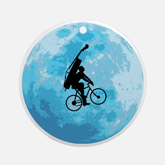 Cycling-in-Moonlight Round Ornament