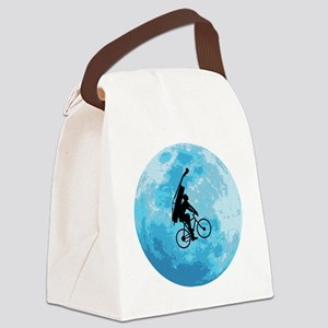 Cycling-in-Moonlight Canvas Lunch Bag