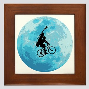 Cycling-in-Moonlight Framed Tile