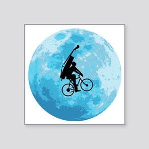 "Cycling-in-Moonlight Square Sticker 3"" x 3"""