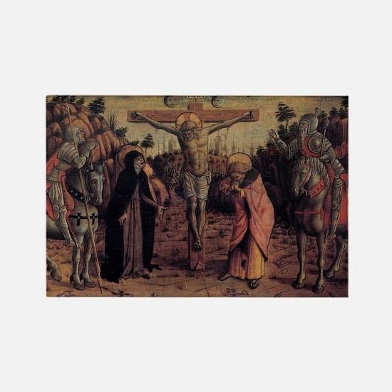 Crucifixion - Carlo Crivelli - c1468 Magnets