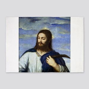 Christ, A Gardener - Titian, c1553 5'x7'Area Rug