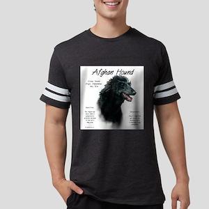 Afghan Hound (black) Mens Football Shirt