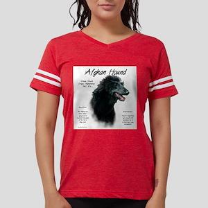 Afghan Hound (black) Womens Football Shirt