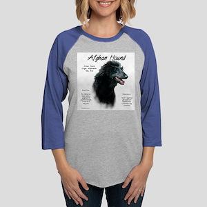 Afghan Hound (black) Womens Baseball Tee