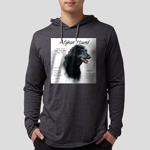 Afghan Hound (black) Mens Hooded Shirt