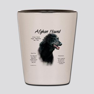 Afghan Hound (black) Shot Glass