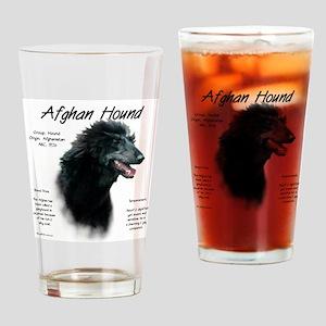 Afghan Hound (black) Drinking Glass