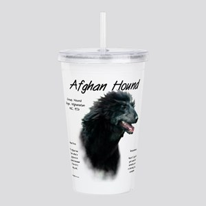 Afghan Hound (black) Acrylic Double-wall Tumbler