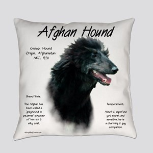 Afghan Hound (black) Everyday Pillow