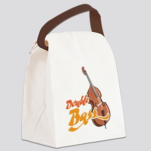 Double-Bass-001 Canvas Lunch Bag
