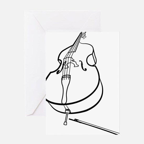 Double-Bass-10-a Greeting Card