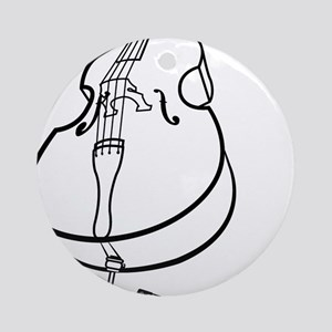 Double-Bass-10-a Round Ornament
