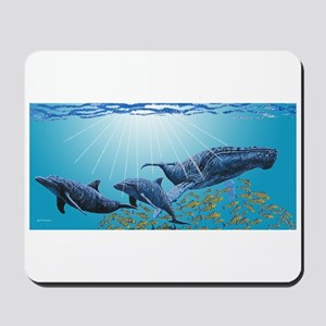 Humpback Whale & Dolphins Mousepad