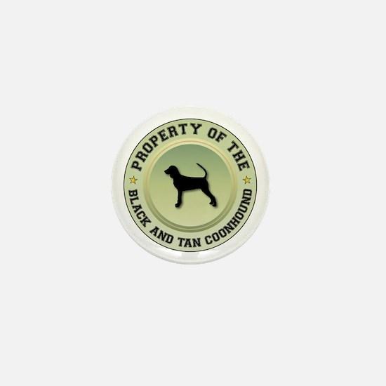 Black and Tan Property Mini Button