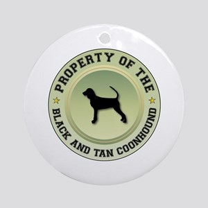Black and Tan Property Ornament (Round)