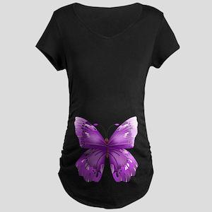 Awareness Butterfly Maternity T-Shirt