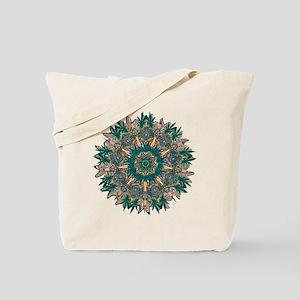 CANNABIS LEAF II TEAL/ORNG Tote Bag