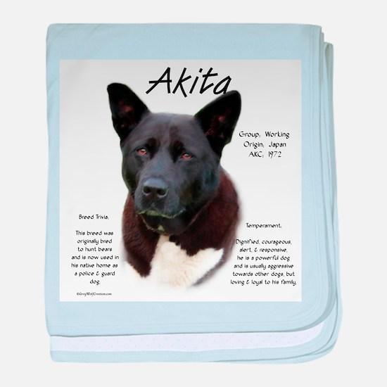 Akita (black) baby blanket