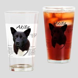 Akita (black) Drinking Glass