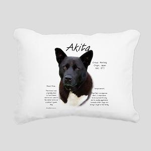 Akita (black) Rectangular Canvas Pillow