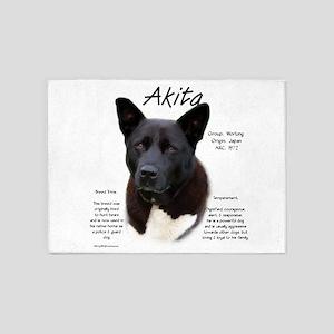 Akita (black) 5'x7'Area Rug
