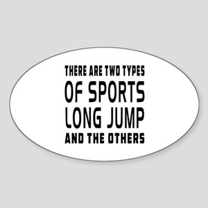 Long Jump designs Sticker (Oval)