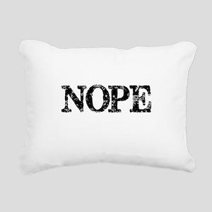 NOPE Rectangular Canvas Pillow