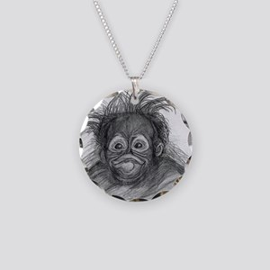 Orangutan Necklace Circle Charm