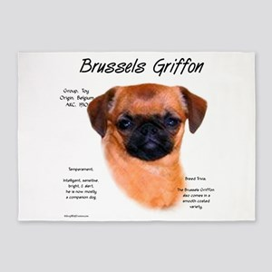 Brussels Griffon (smooth) 5'x7'Area Rug