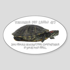 Valuable Pet Lesson #7 Oval Sticker