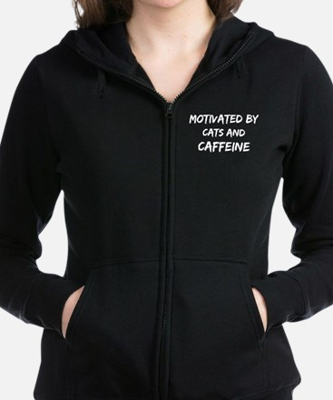 Motivated by cats and Caffeine Sweatshirt