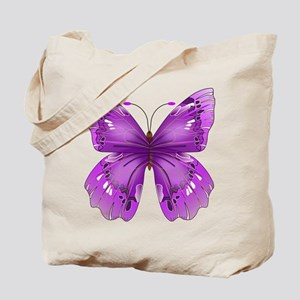 Awareness Butterfly Tote Bag