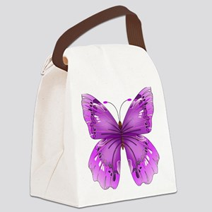 Awareness Butterfly Canvas Lunch Bag