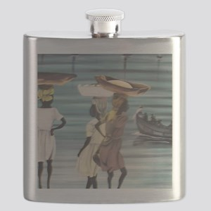 Girls Selling by the Shore Flask