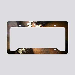 Domino hands License Plate Holder