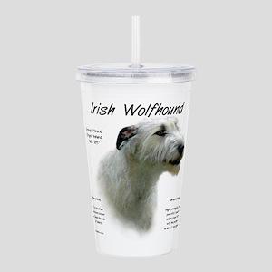 Irish Wolfhound (white Acrylic Double-wall Tumbler