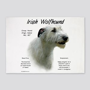 Irish Wolfhound (white) 5'x7'Area Rug