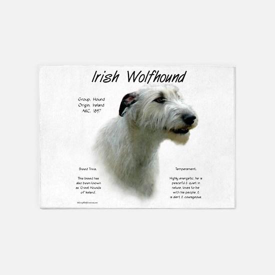 Irish Wolfhound (white) 5'x7'Area Rug