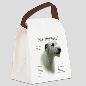 Irish Wolfhound (white) Canvas Lunch Bag