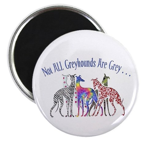 """Greyhounds Not Grey 2.25"""" Magnet (100 pack)"""