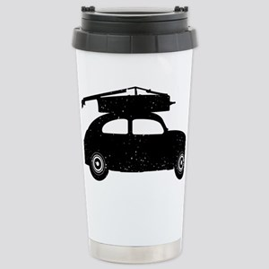 Double-Bass-On-Car-01-a Stainless Steel Travel Mug