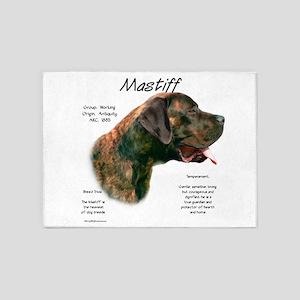 Mastiff (apricot brindle) 5'x7'Area Rug