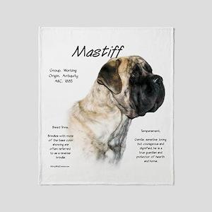 Mastiff (light/reverse brindle) Throw Blanket