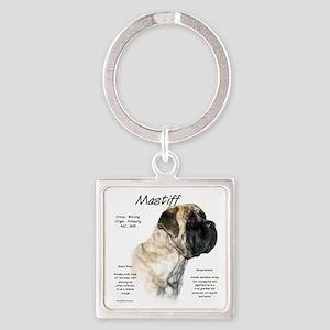 Mastiff (light/reverse brindle) Square Keychain