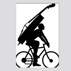 Double-Bass-On-Bicycle-01 Postcards (Package of 8)