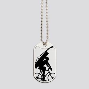 Double-Bass-On-Bicycle-01-a Dog Tags