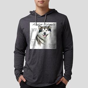 Alaskan Malamute Mens Hooded Shirt