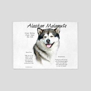Alaskan Malamute 5'x7'Area Rug