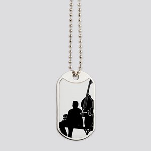 Double-Bass-On-Park-Bench-01-a Dog Tags